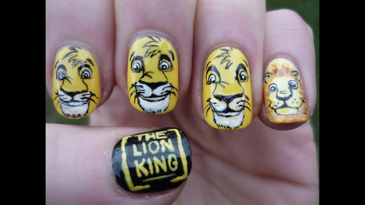 lion king nail art tutorial