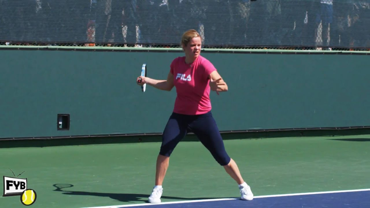 Kim Clijsters playing practice points in slow motion HD Indian