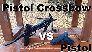 Pistol Crossbow VS. Pistol?