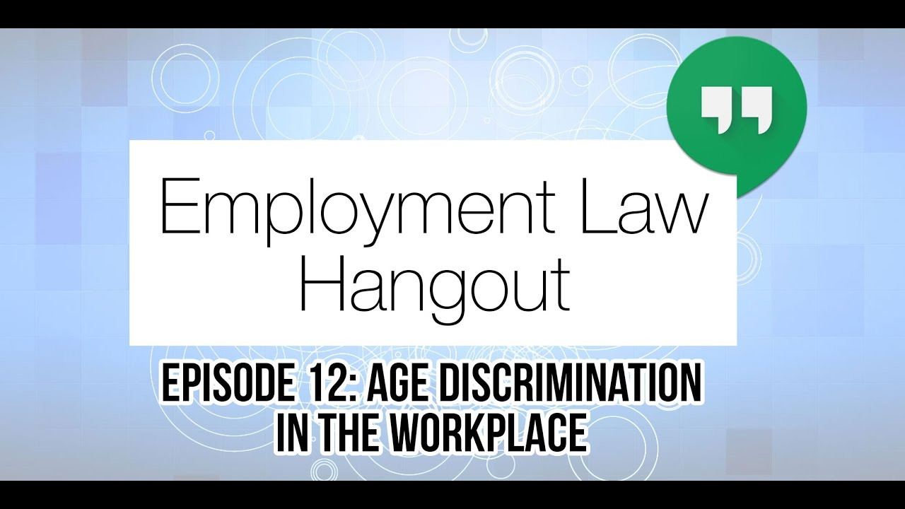 Age Discrimination In The Workplace Youtube
