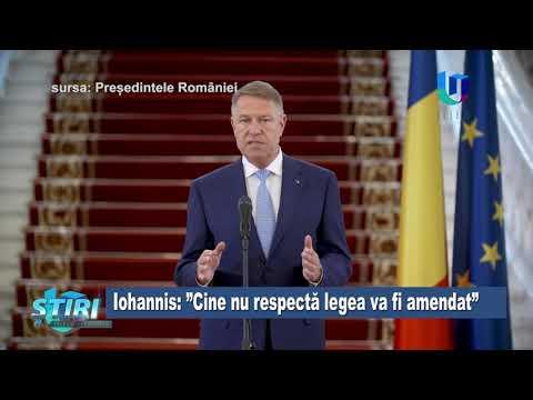 Iohannis: Cine nu respectă legea va fi amendat