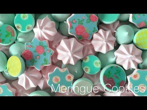 Sugar Stamp Meringue Cookies
