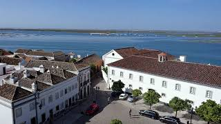 View of the town from Faro Cathedral, Faro, Portugal