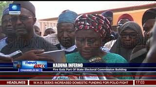 Fire Guts Part Of Kaduna State Electoral Commission Building