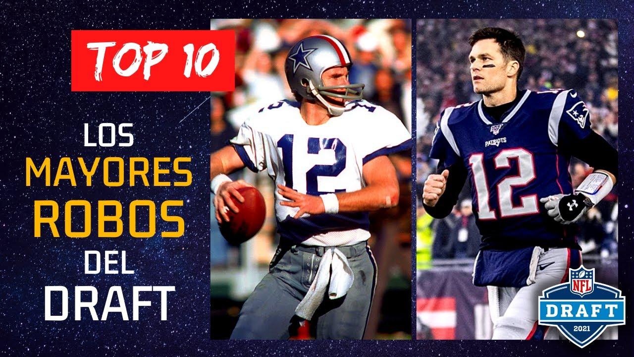 TOP 10 - LOS MAYORES ROBOS DEL DRAFT | NFL DRAFT