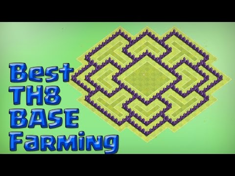Town Hall 8 Farming Base New Update 2016 Video