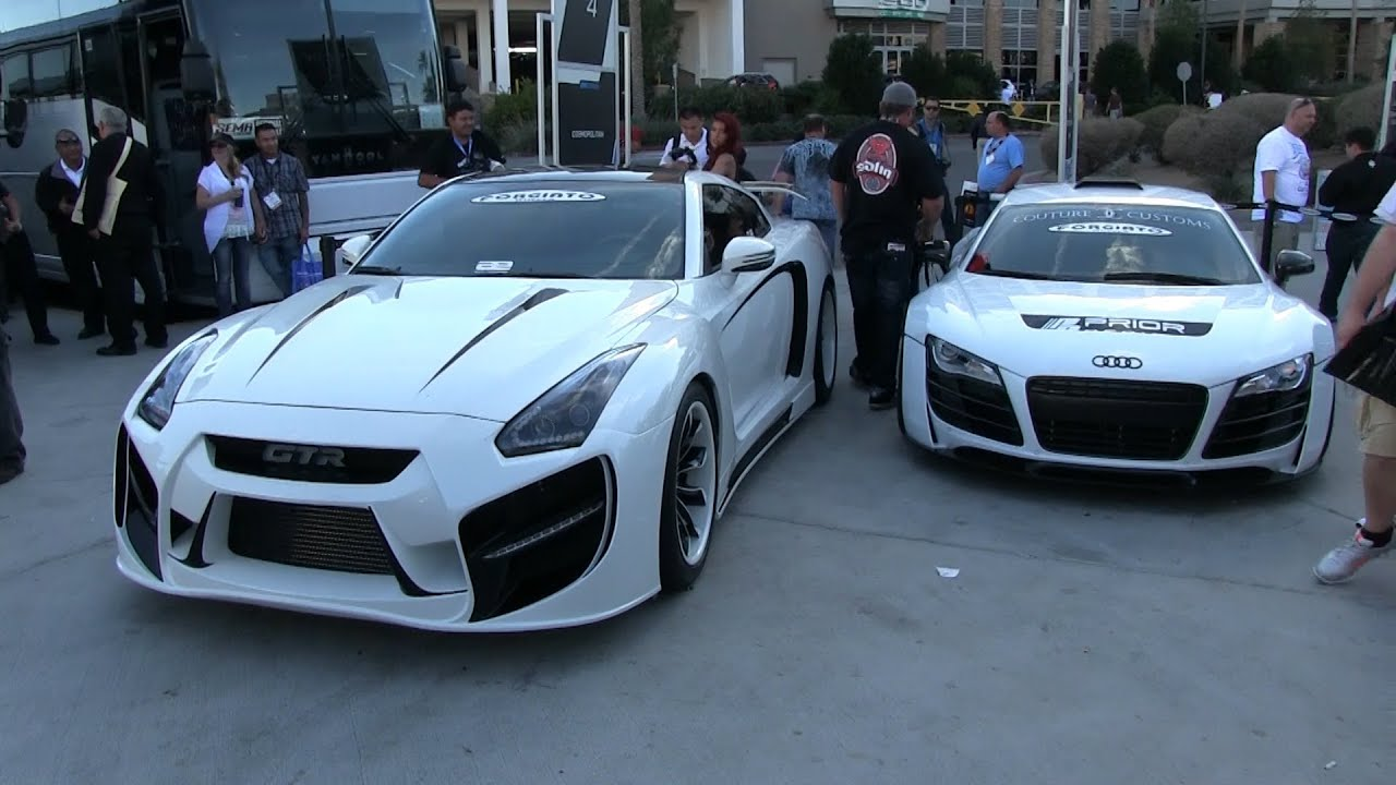 Modified Quot Radzila Quot Nissan Gtr And Audi R8 Widebody At Sema