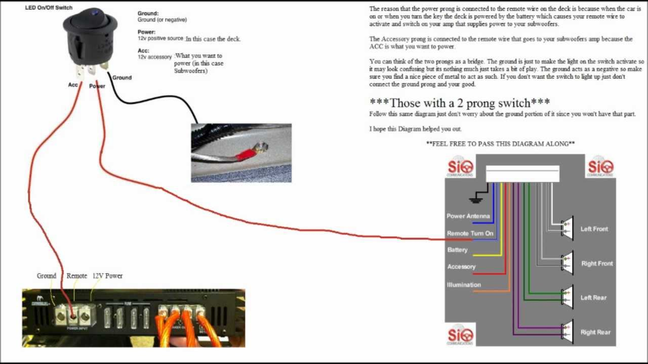 Wiring Diagram For Subwoofer Killswitch  YouTube