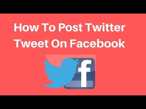How To Post Twitter Tweet On Facebook