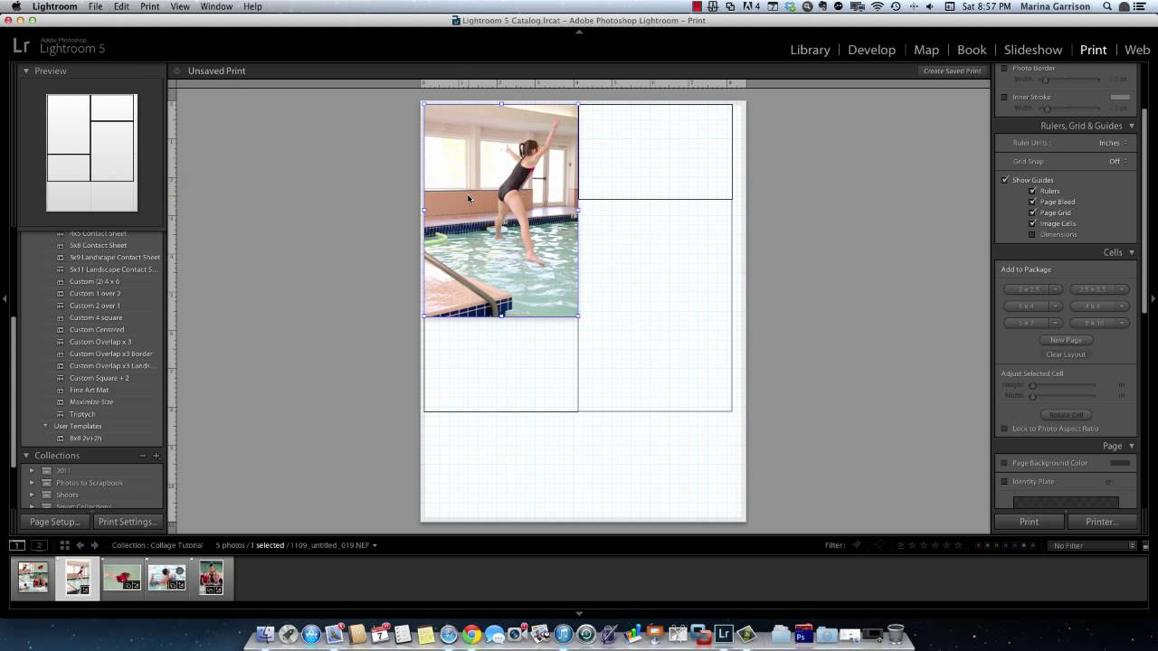 How to create a collage in Lightroom 5 - YouTube