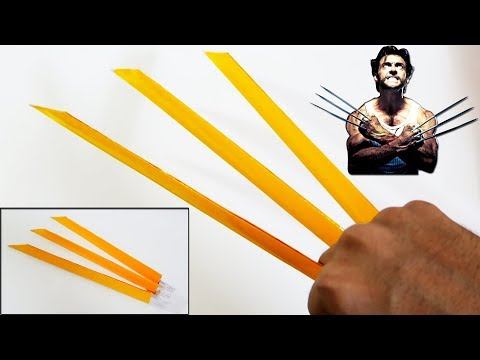 How to make Paper Wolverine Claws (PAPER CLAWS)