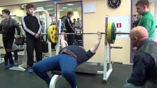 Русский жим. Жим штанги 110 кг.