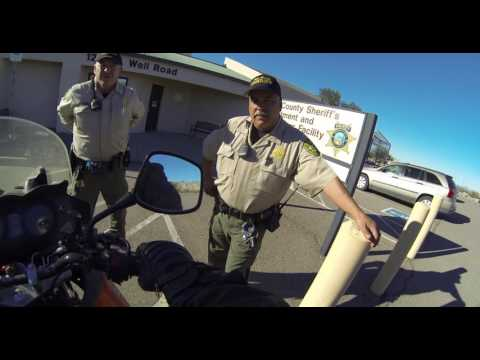 Issuing Trespass Warning to Pima County Sheriff's Officers, Well Road, Ajo, AZ, 30 Nov 16, GP031640