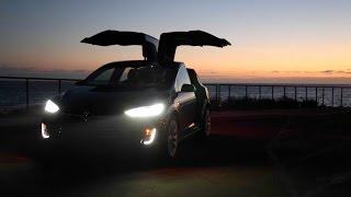 Tesla Motors - Model X P90d w/ Autopilot, Falcon doors and more! Video shoot along the Malibu Coast!