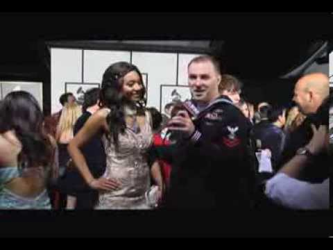 """Vaja - 56th Annual Grammy Awards """"AFN"""" American Forces Network Red Carpet Interview"""