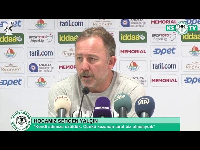 Hocamız Sergen Yalçın'ın Antalyaspor maçı sonrası açıklamaları