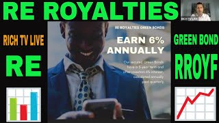 RE Royalties (RE) (RROYF) | Green Bond Investment 6% annual return