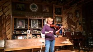 Traveling Violin on stage of The Carter Fold