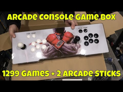 PANDORA Arcade Console Game Box Dual Stick + 1299 Games