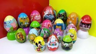 19 Surprise Eggs Cars Peppa Pig Winx Spongebob One Direction Kinder Surprise Christmas Unboxing Thumbnail