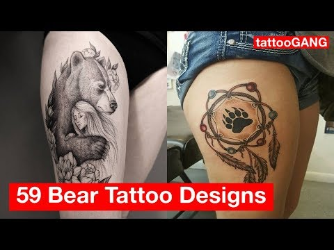 59 Attractive Bear Tattoo Designs Gallery