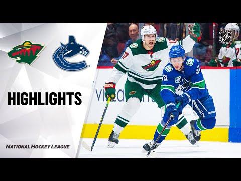 NHL Highlights   Wild @ Canucks 02/19/20