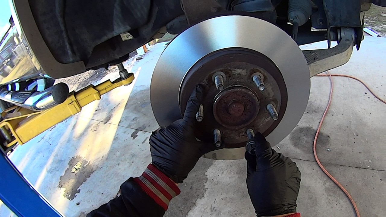 Replace Front Brake Pads and Rotors on '04-'08 Ford F-150 Truck - YouTube