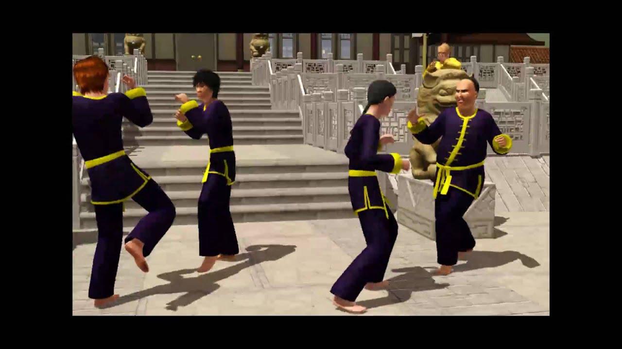 kung fu fighting the sims 3 world adventures machinima youtube