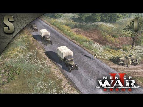 Видео: Прохождение Men of War 2: Arena [СССР] ★Сорванный блицкриг★ ( Гроза начинается ) #1