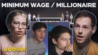 Rayhart Twins react to Millionaires vs Minimum Wage: Did You Earn Your Money? | Jubilee