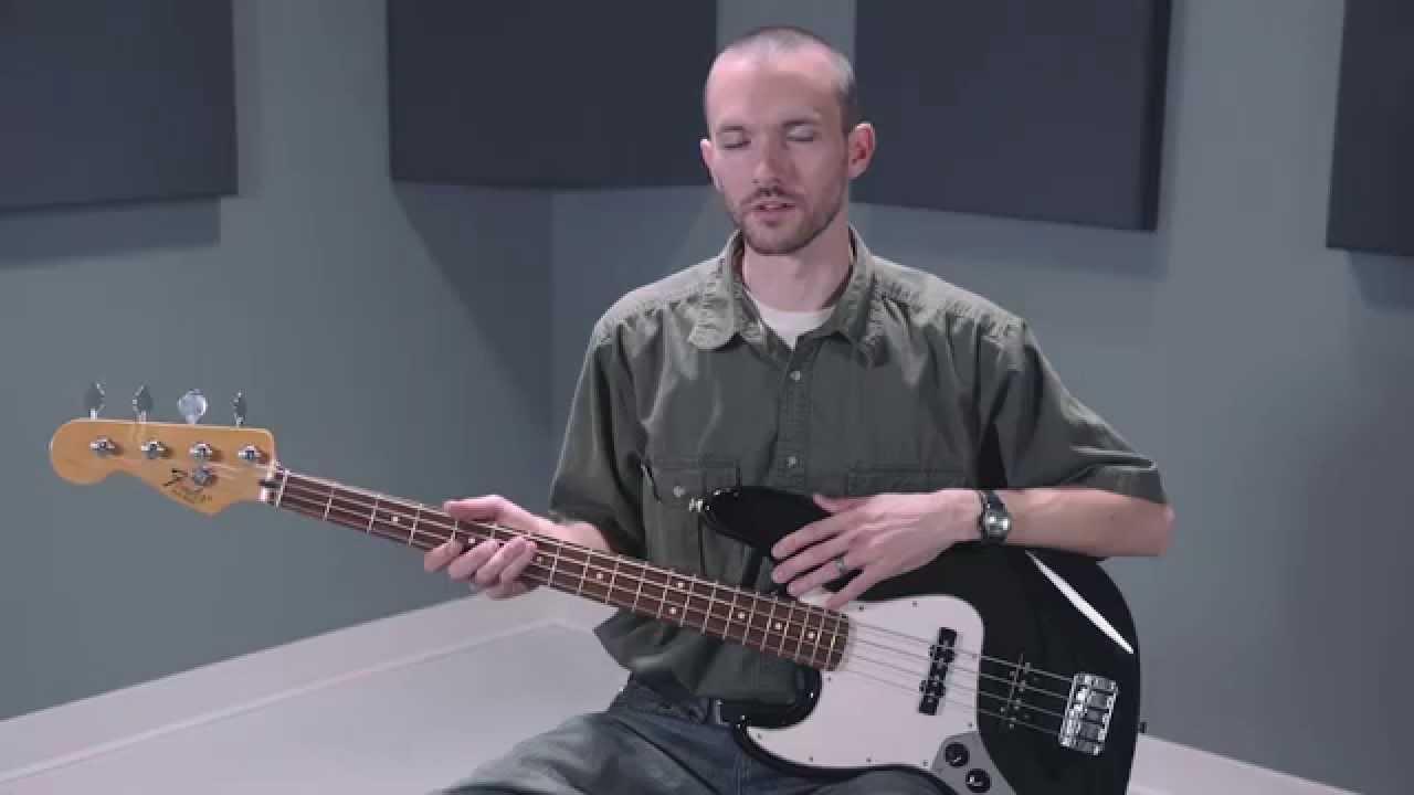 fender standard left handed jazz bass guitar with rosewood fretboard youtube. Black Bedroom Furniture Sets. Home Design Ideas