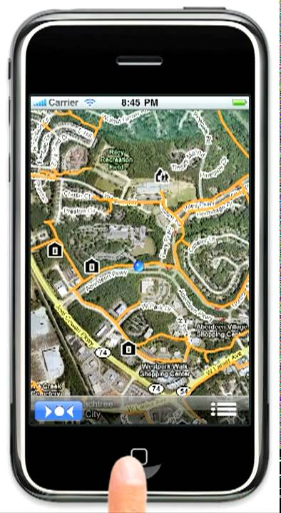 Peachtree City Golf Cart Map Peachtree City Cart Path iPhone App   YouTube