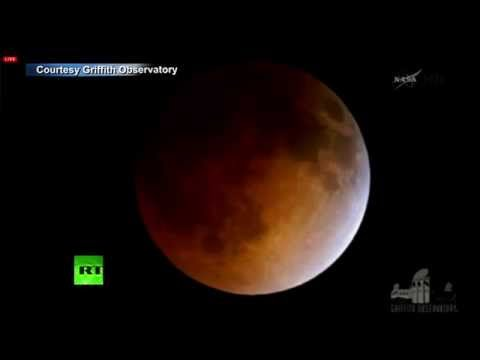 'Blood moon' video: Rare total lunar eclipse caught on tape