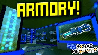MILITARY BARRACKS and ARMORY! [FMB 22] - Scrap Mechanic Gameplay