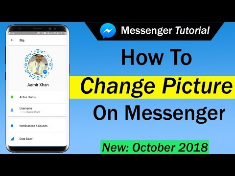 How do you change picture on facebook messenger