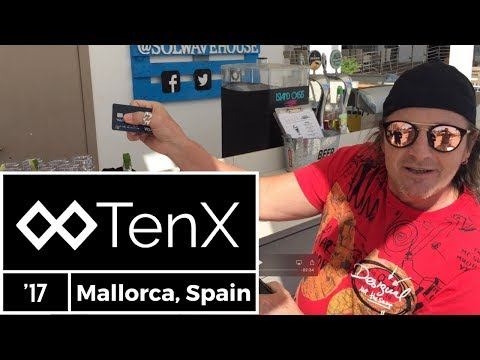TenX Debit Card Transaction In Real Time - Mallorca, Spain