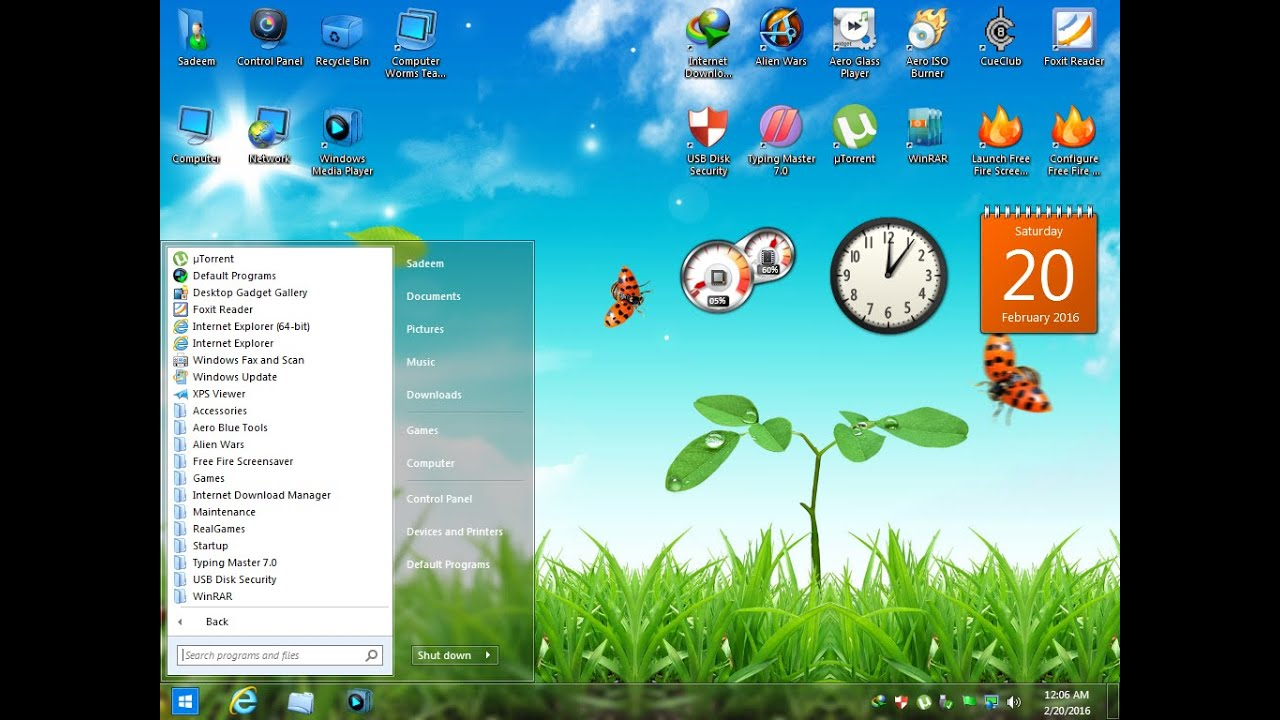 10 cool glass windows 7 themes.