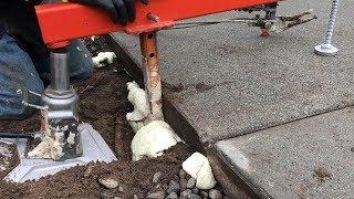Lifting Sunken Concrete Driveway Pads