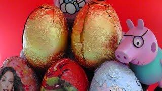 HUEVO KINDER peppa pig, violetta, hello kitty/ HUEVO KINDER/ surprise eggs video