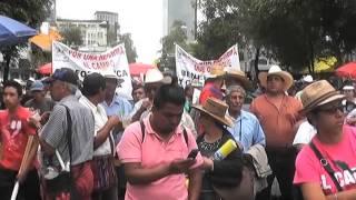 Crónica de la marcha de campesinos en el DF
