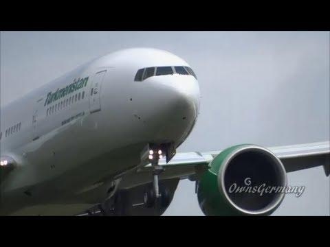 Turkmenistan 777-200LR Full Test Flight @ KPAE Paine Field