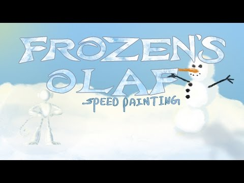OLAF (Frozen) -speed drawing (Disney)