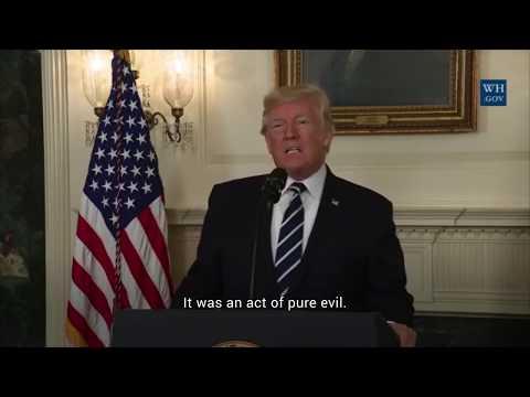 President Trump calls Las Vegas mass shooting an 'act of pure evil'