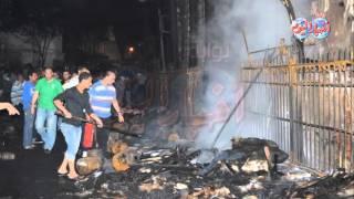 حريق هائل يلتهم محلات شارع الرويعي بالعتبة