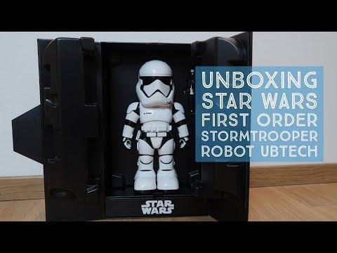 Unboxing Star Wars First Order Stormtrooper Robot Ubtech