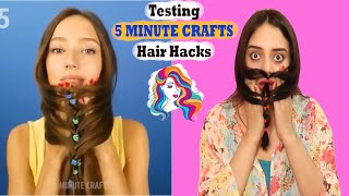 Testing out viral HAIR HACKS by 5 MINUTE CRAFTS | Mishra Twins
