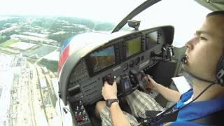 Visual Approach into Peachtree-Dekalb Airport Runway 21L.