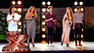 Group 12 sing Be My Baby for the Judges | Boot Camp | The X Factor UK 2015