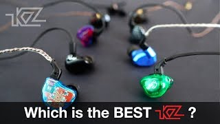 which KZ is best? ZSR ZS10 ZS5 ZS3 ZST ATE ATR ATE-s