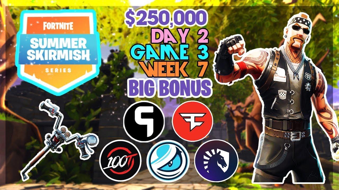 250 000 Big Bonus Summer Skirmish Week 7 Day 2 Game 3 Fortnite